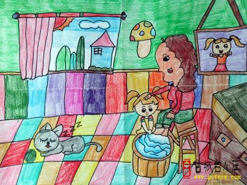 小学母亲节绘画手