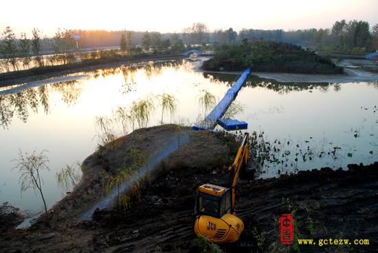 建设中的台儿庄双龙湖生态风景区专访之一(图)